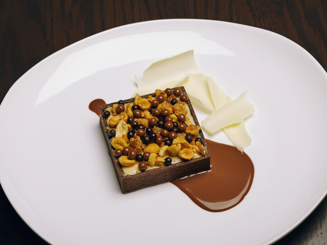 Image of a peanut butter and chocolate dessert