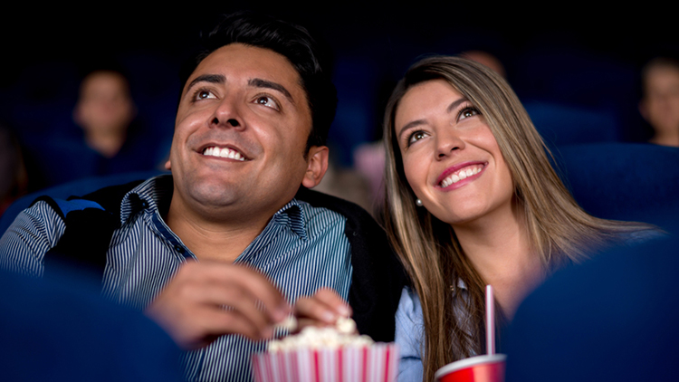 Man and woman at the cinema