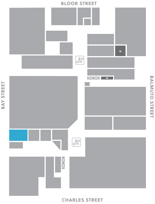 Concourse level, A10 store mapped location