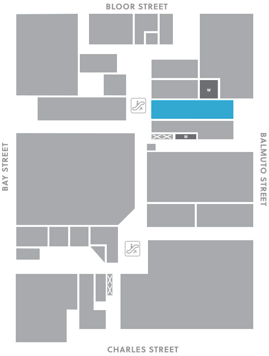 Concourse level, A25 store mapped location