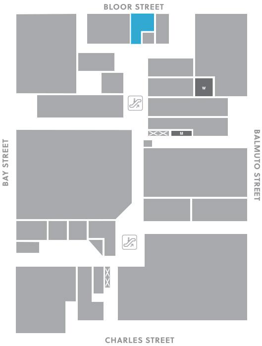 Concourse level, A3 store mapped location