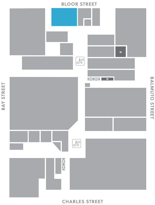 Concourse level, A4 store mapped location