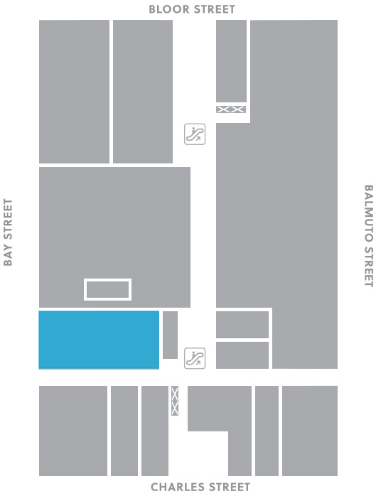 First level, B5 store mapped location