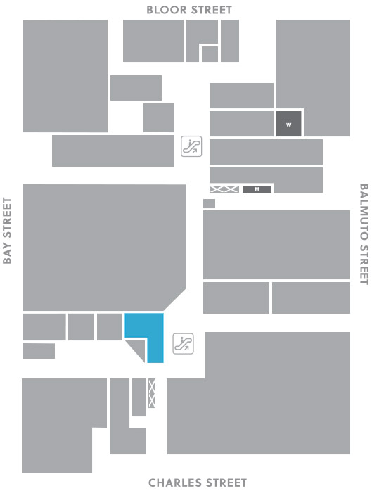 Concourse level, A13 store mapped location