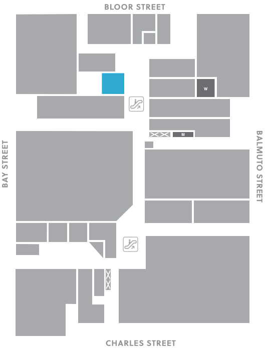 Concourse level, A7 store mapped location